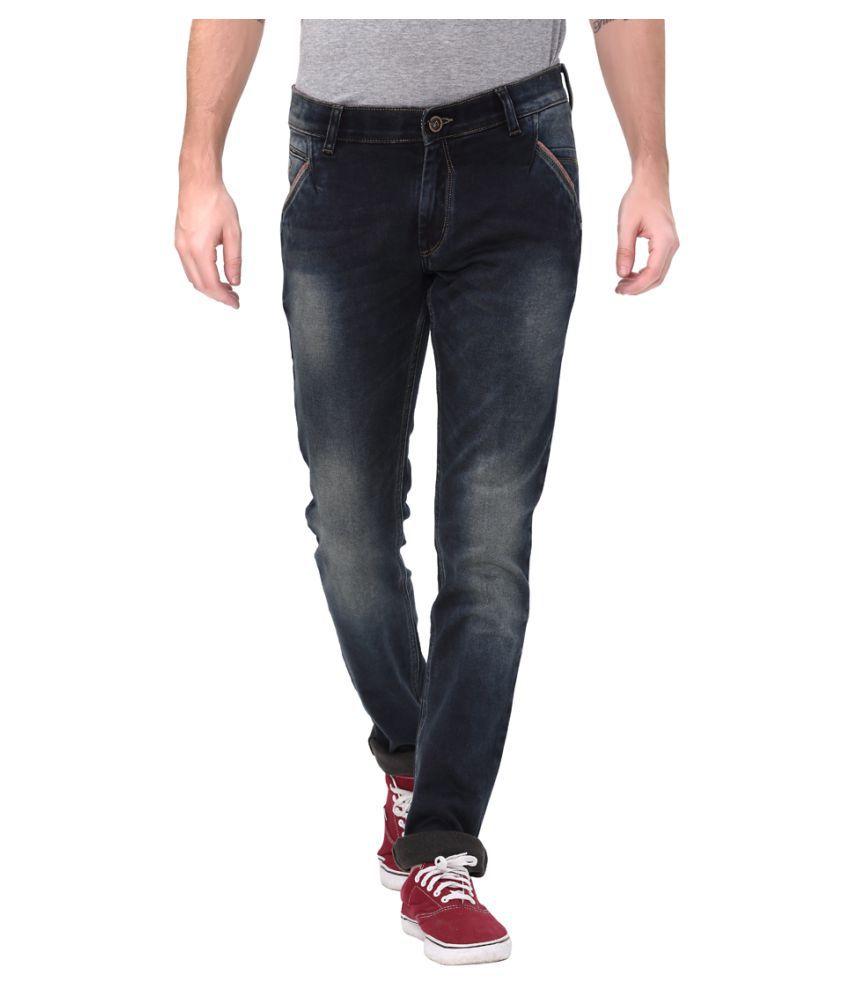 Apris Navy Blue Slim Jeans