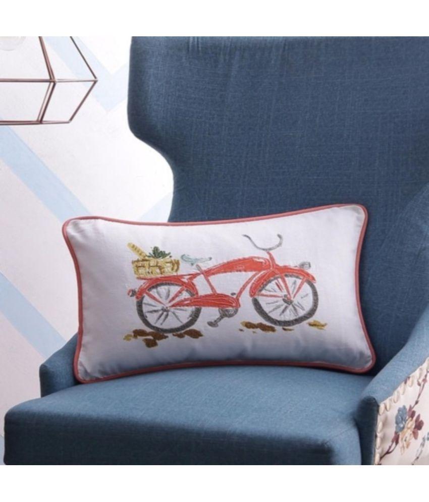 SOLAJ Single Cotton Cushion Covers 30X50 cm (12X20)