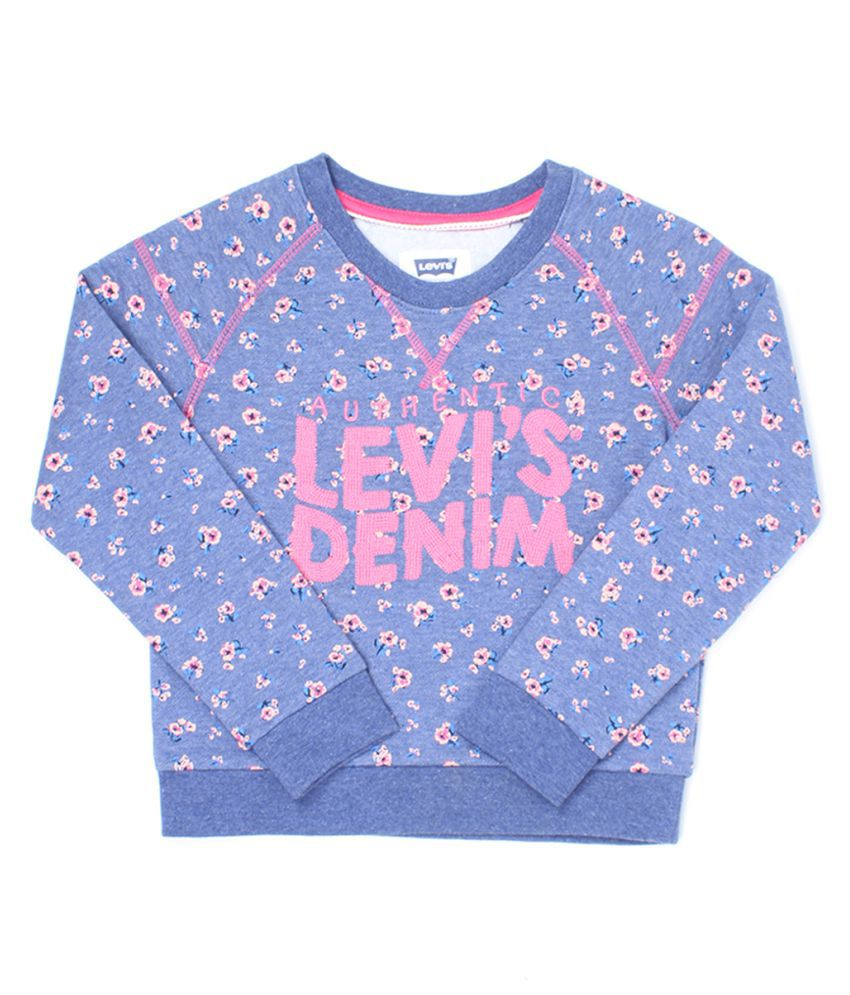 Levi's Girls Blue Sweat Shirt