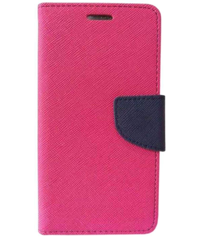 new product f4eb2 f2b9e Micromax Canvas 5 Lite Q463 Flip Cover by Zocardo - Pink