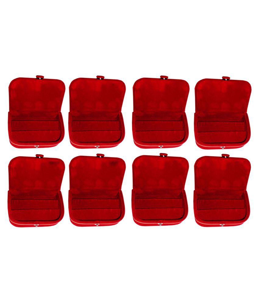 Phoenixfaso Set of 8 velvet Earring folder Ring box jewelery case ring storage ear ring travelling folder