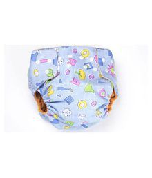 Ole Baby Cloth Diaper REUSABLE Nappy Organic Cotton Anti Bacterial Washable Free Size Adjustable WaterProof Covered 0-3 Years ( Made in India)