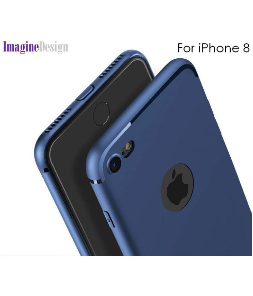 b5db4b22b3 Apple Iphone 8 Soft Silicon Cases Wow Imagine - Blue - Plain Back Covers  Online at Low Prices | Snapdeal India