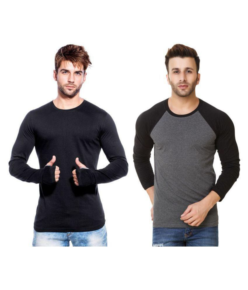 Blue Ocean Multi Round T-Shirt Pack of 2