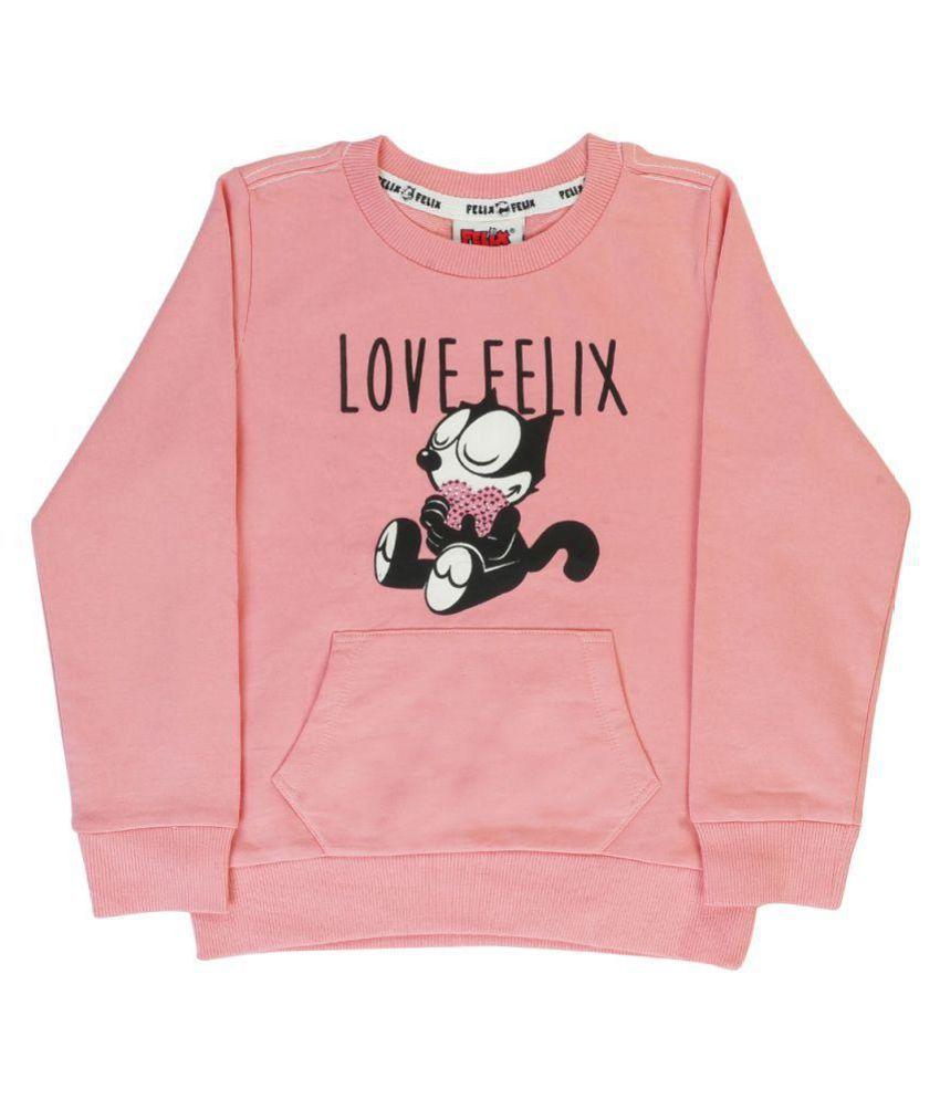 Indirang Pink Sweat T-shirt for Girls