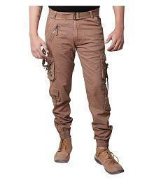 Dori style relaxed fit zipper cargo pants for men