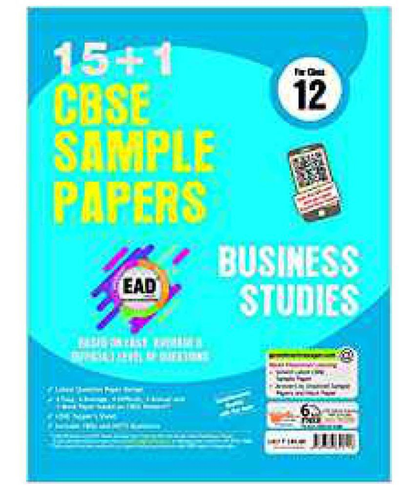 ead class business studies cbse sample papers buy ead  ead class 12 business studies 15 1 cbse sample papers