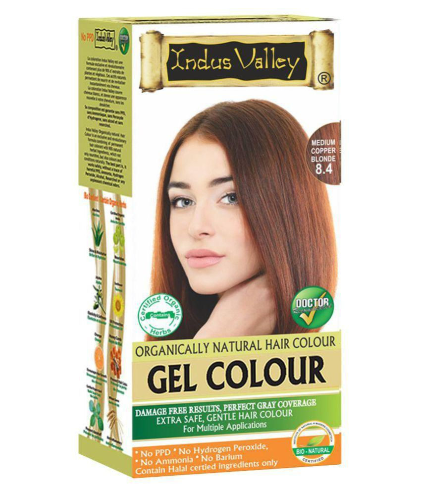Indus Valley Organically Natural Gel Hair Dye For Grey Coverage Hair