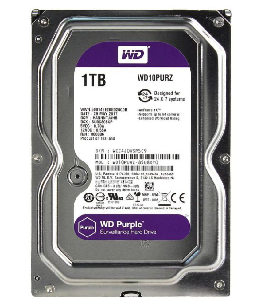 WD WD10PURZ 1 TB Internal Hard Drive Internal Hard drive