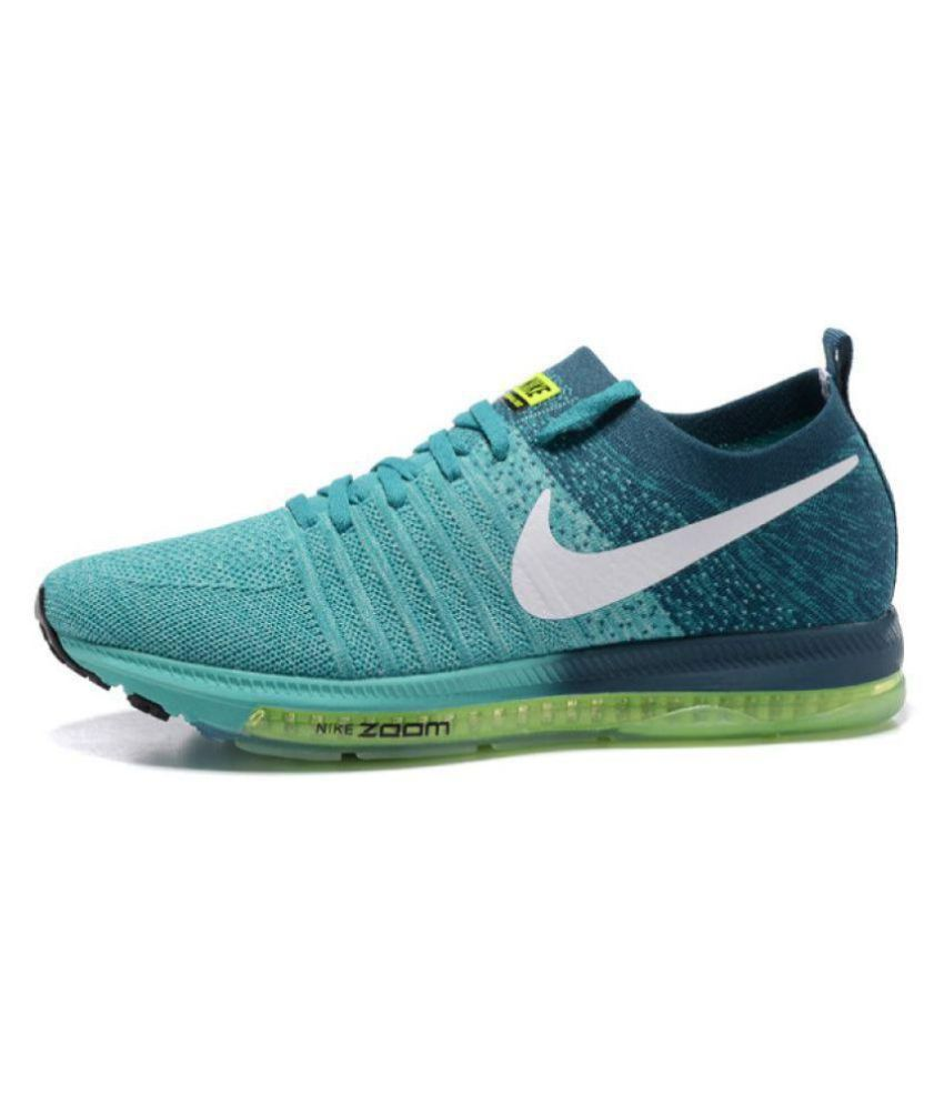 Nike Zoom All Out Flyknit Low Green Running Shoes ...