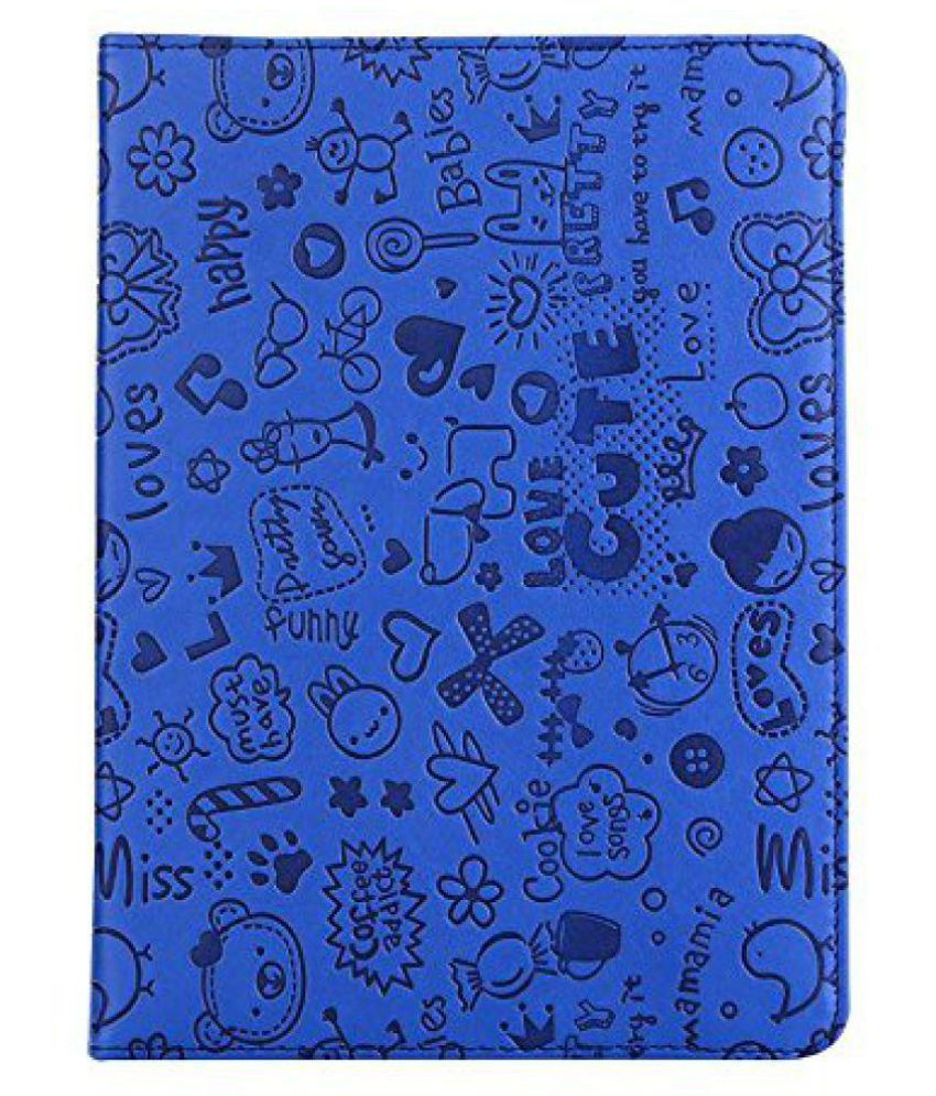 Apple iPad Air 2 Flip Cover By KolorFish Blue