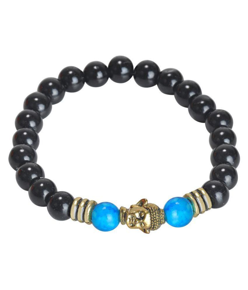 carrydreams Brown Oxidized  Charm Beads Bracelet For Men