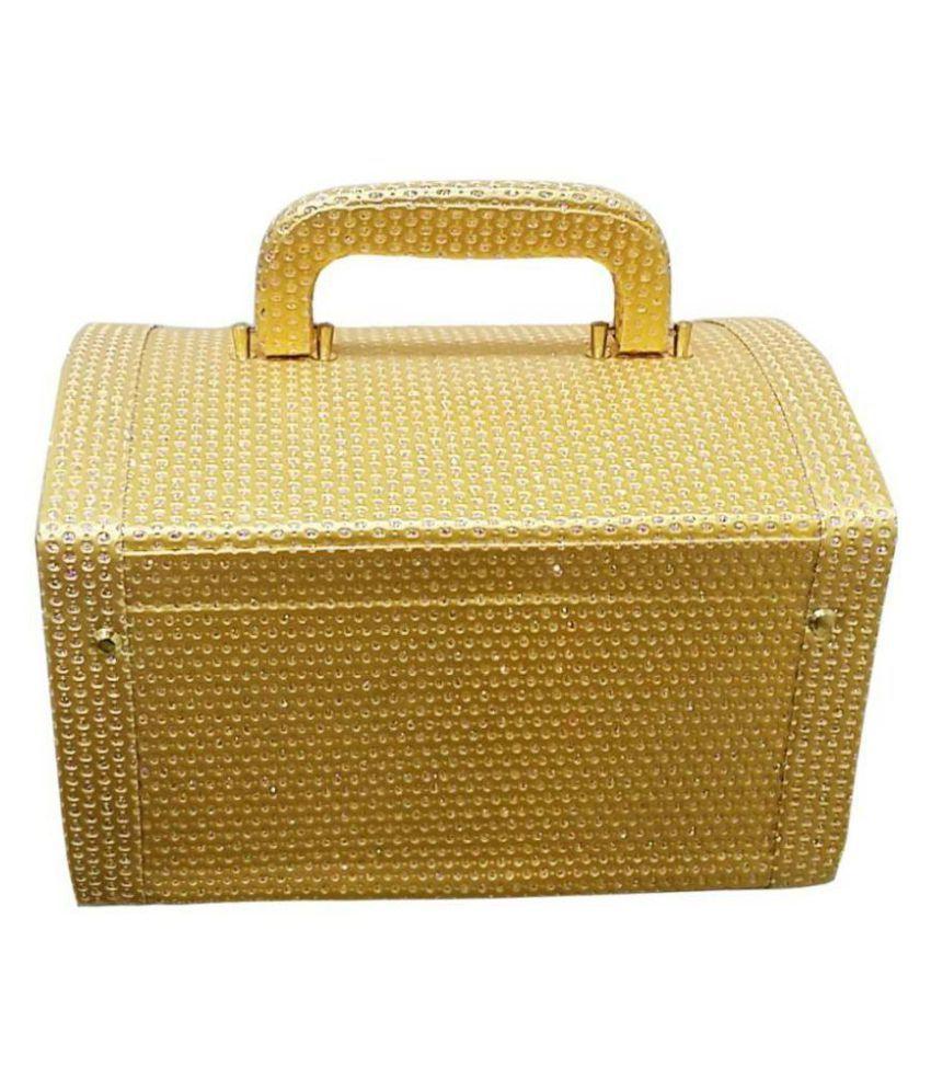Palki  store cosmetic itmes Vanity Box  (Golden)