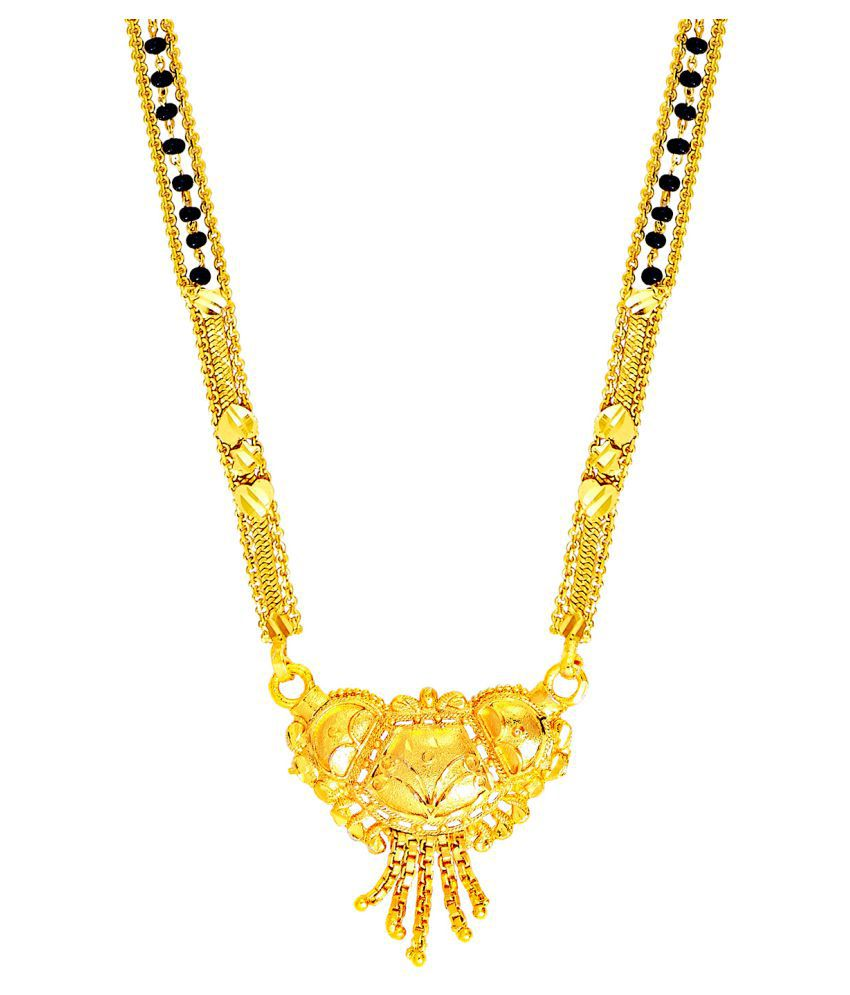 Shining Jewel 24K Long Gold Mangalsutra For Women (SJ_2298)