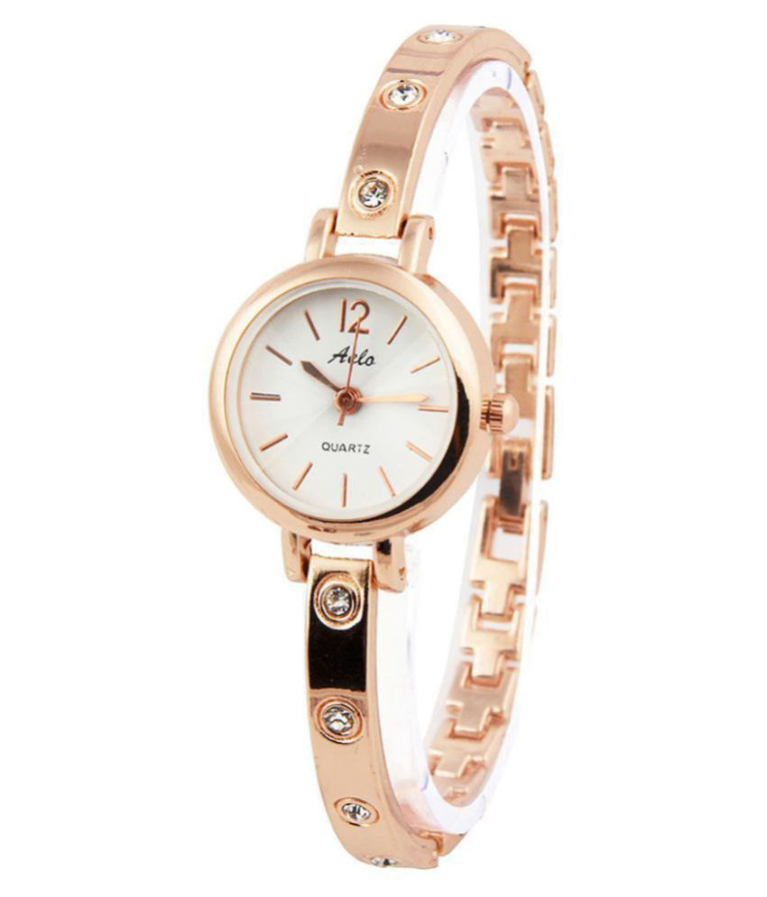 84c78b259d8 AELO Rose Gold Analog Watch For Girls