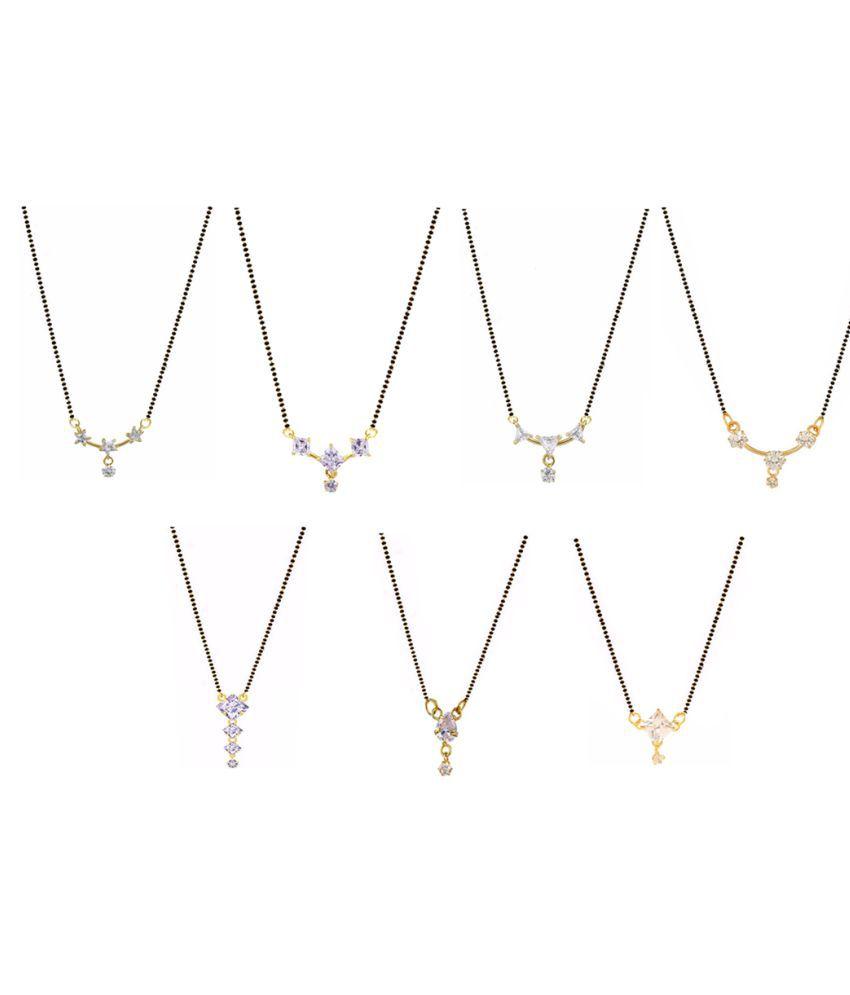 Aabhu Regular Combo of Mangalsutra Pendant with Chain Jewellery for Women