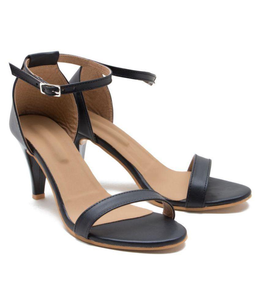 ZAIRA & SAIRA Black Stiletto Heels