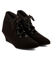 Cute Fashion Black Ankle Length Bootie Boots