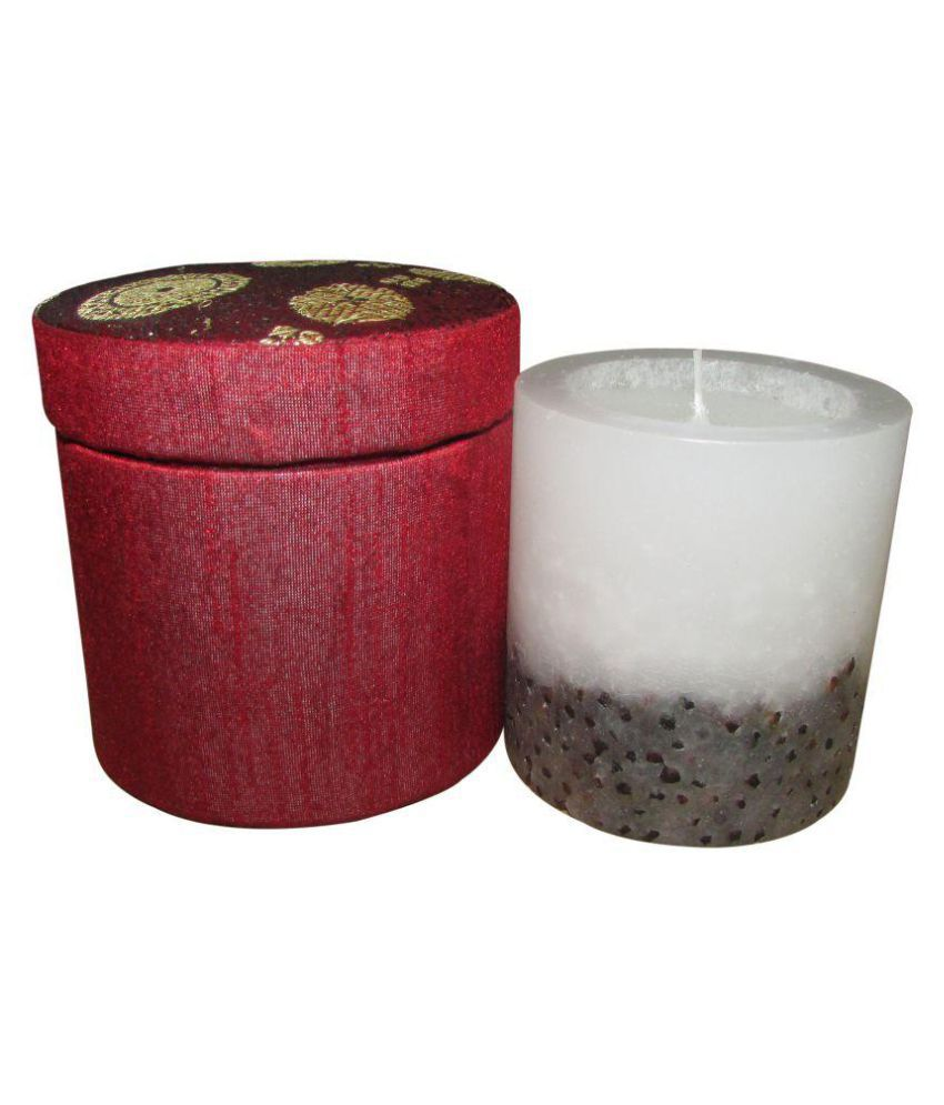 Indha Craft White Pillar Candle - Pack of 1