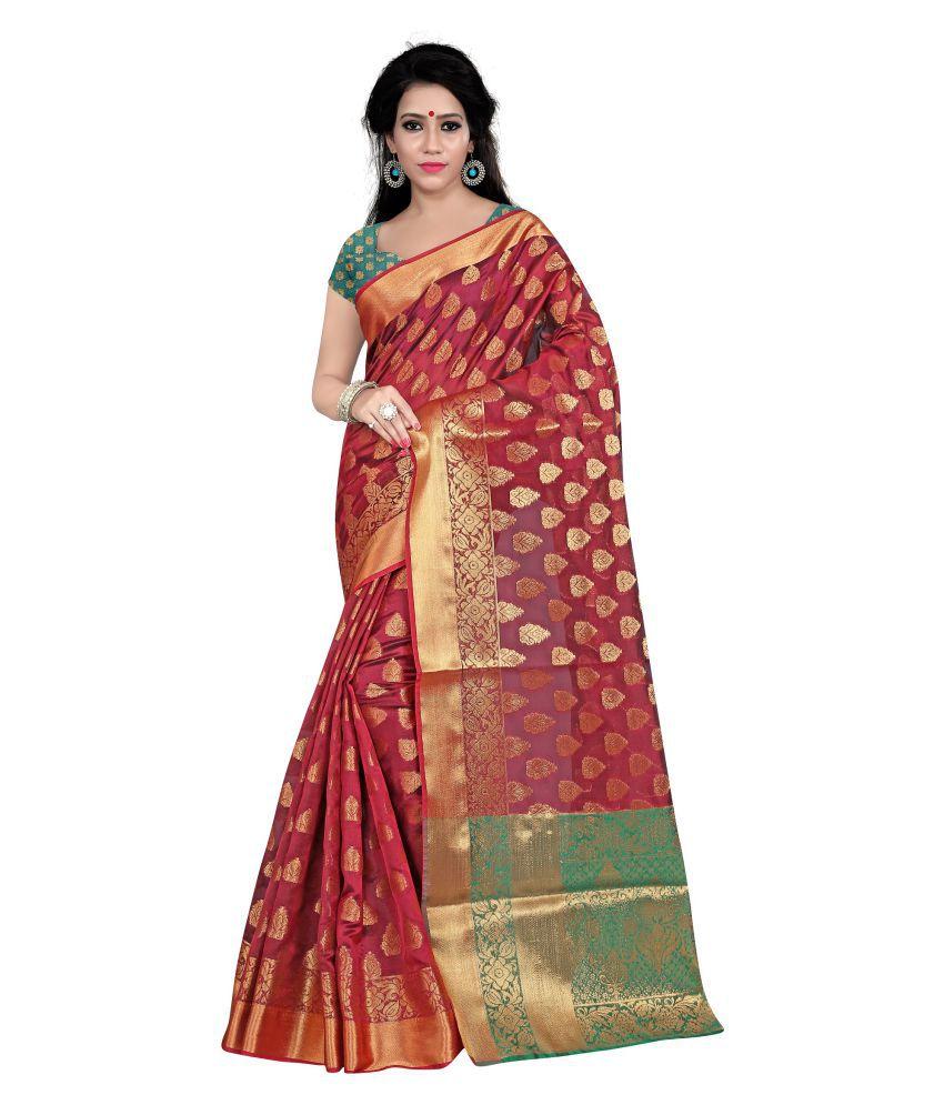 Risera Red Cotton Silk Saree