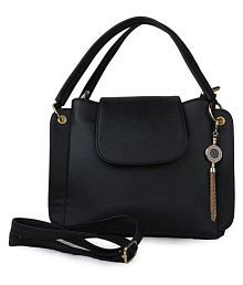 Batterflye Black Faux Leather Sling Bag