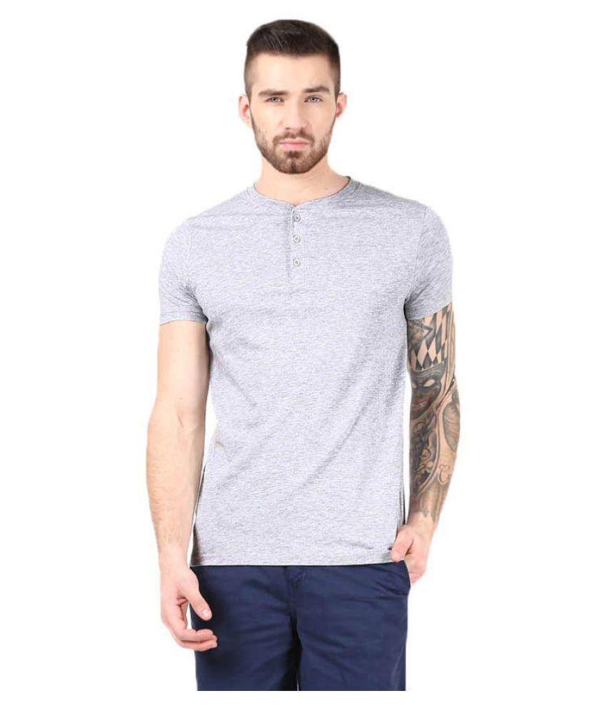 Gallop Grey Henley T-Shirt Pack of 1