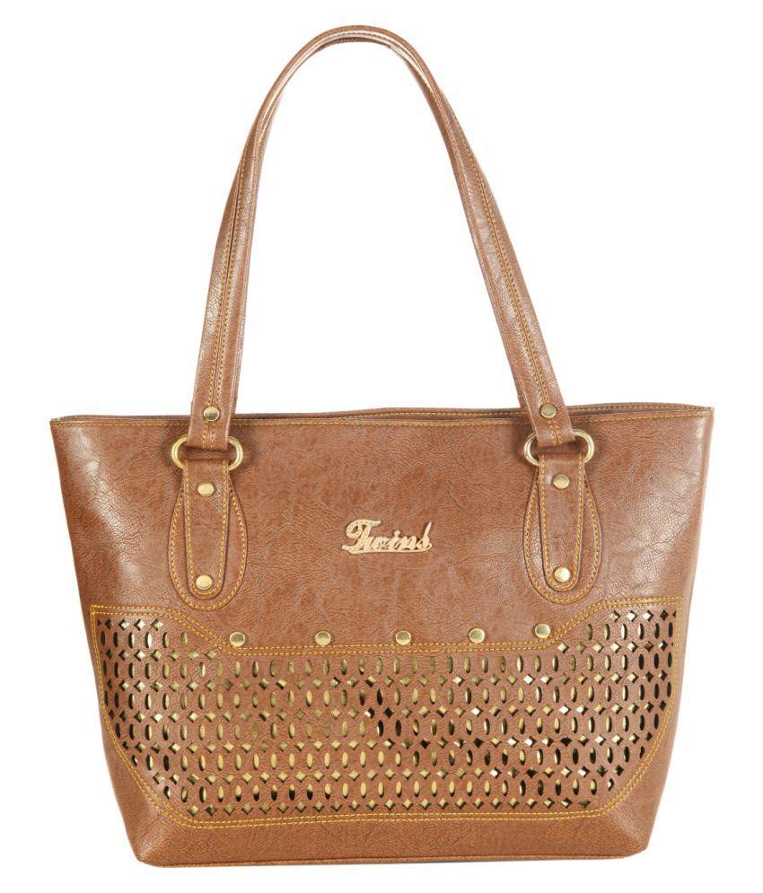 Paras Fashions Brown P.U. Shoulder Bag
