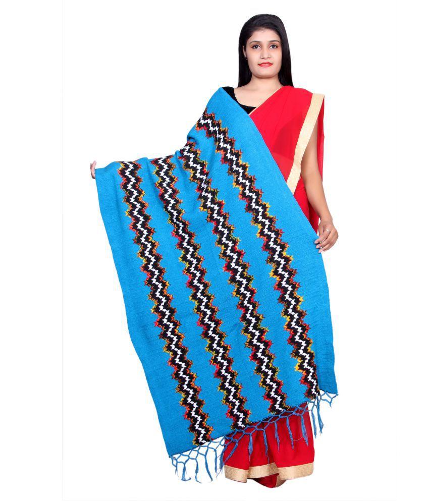 Rama Blue Abstract Shawl
