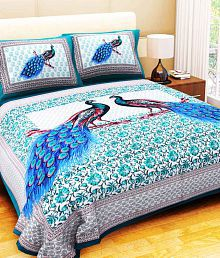 Quick View. Bombay Spreads Cotton King Size Double Bedsheet With 2 Pillow  Covers