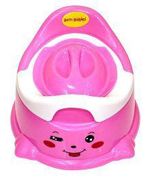 Born Babies Pink Plastic Potty Chair