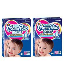 Mamypoko Medium Size Baby Diapers (56 Count) Pack Of 2