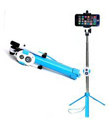 e-Brain Technocrafts Blue Bluetooth Selfie Stick - 80 cm