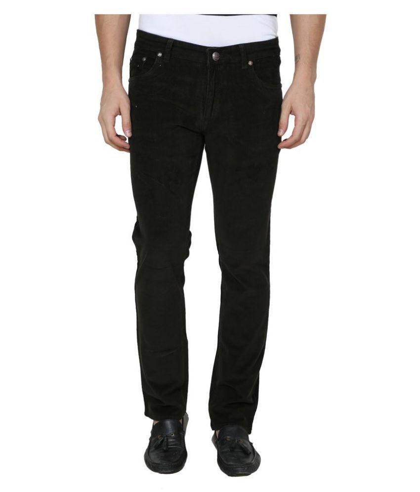 La Mode Black Regular Fit Jeans