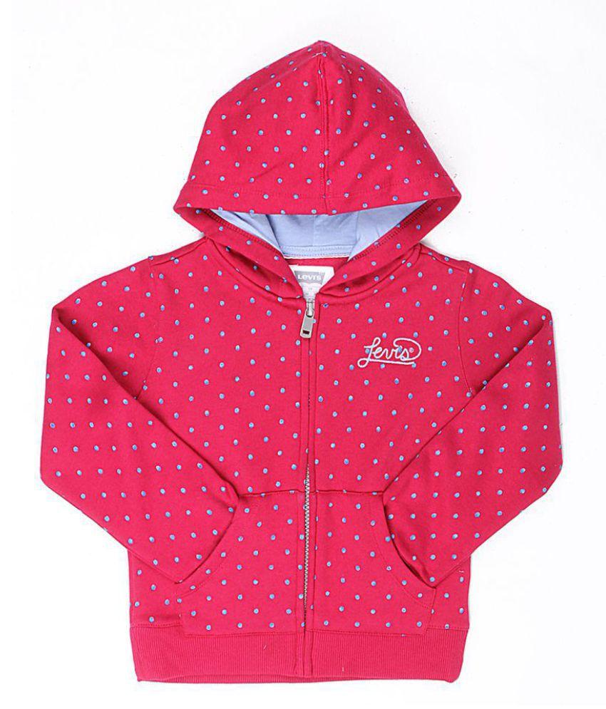 Levi's Girls Red Sweat Shirt