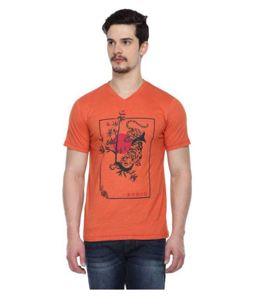 ODAKA Orange V-Neck T-Shirt Pack of 1