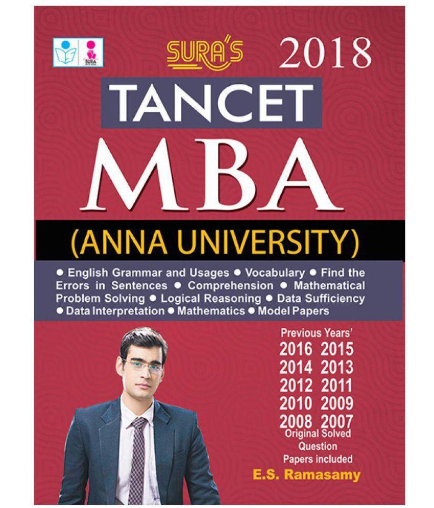TANCET MBA Anna University Exam Book