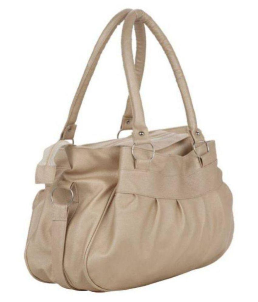 AJ STYLE Cream P.U. Shoulder Bag - Buy AJ STYLE Cream P.U. Shoulder ... 2d5b0b1e10