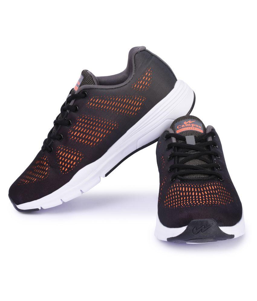 Campus QUANTUM Black Running Shoes Campus QUANTUM Black Running Shoes ...
