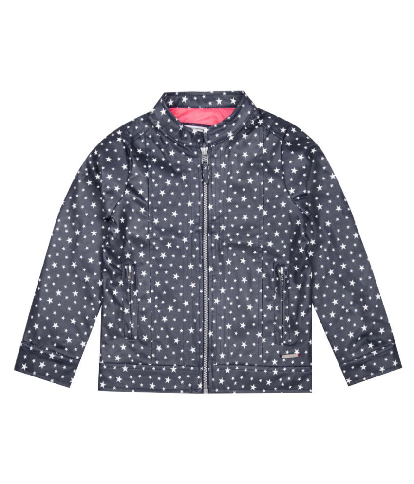 US Polo Girls Blue Casual Jacket
