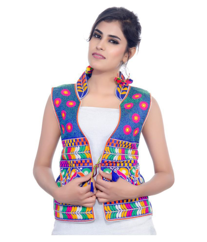 7cb937b50ad Buy Banjara India Cotton Blend Blue Ethnic Jacket Online at Best Prices in  India - Snapdeal