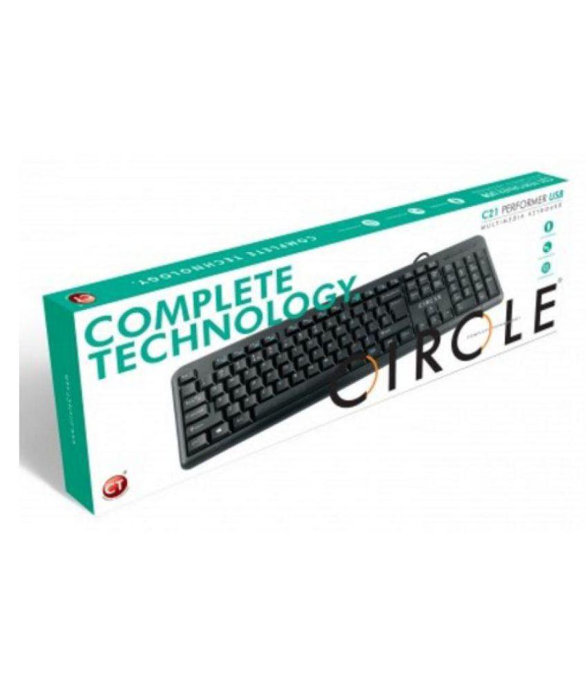 Circle C21 USB Black USB Wired Desktop Keyboard - Buy Circle C21 USB ...