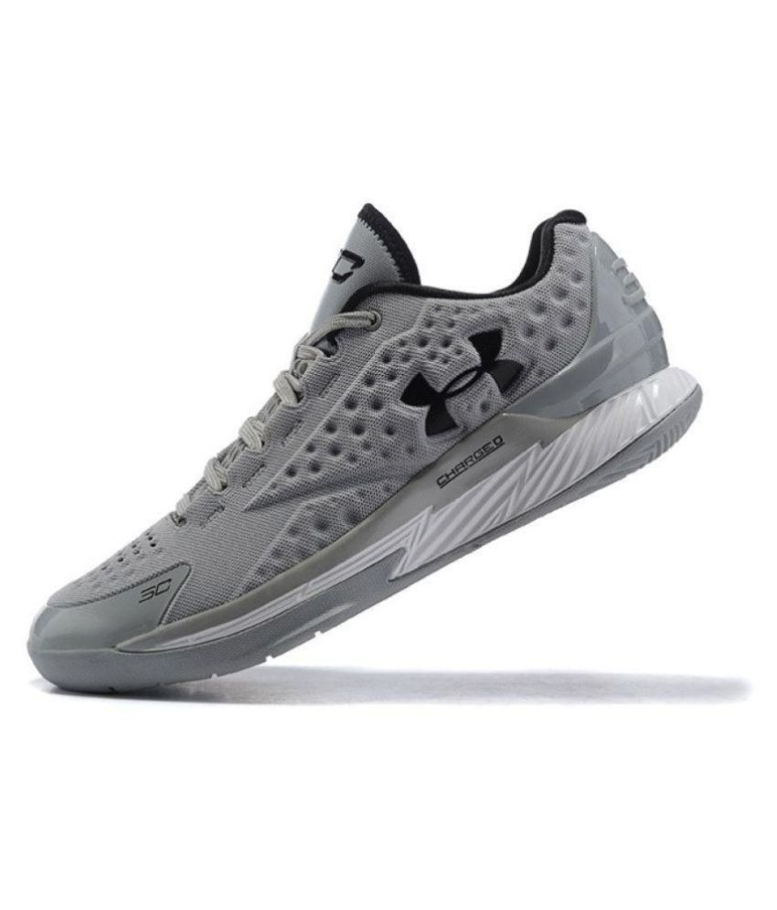 4a6f8b769e4b Under Armour Men s Stephen Curry 1 Low Gray Running Shoes - Buy Under  Armour Men s Stephen Curry 1 Low Gray Running Shoes Online at Best Prices  in India on ...