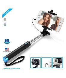 ZAAP Black Bluetooth Selfie Stick - 20 cm