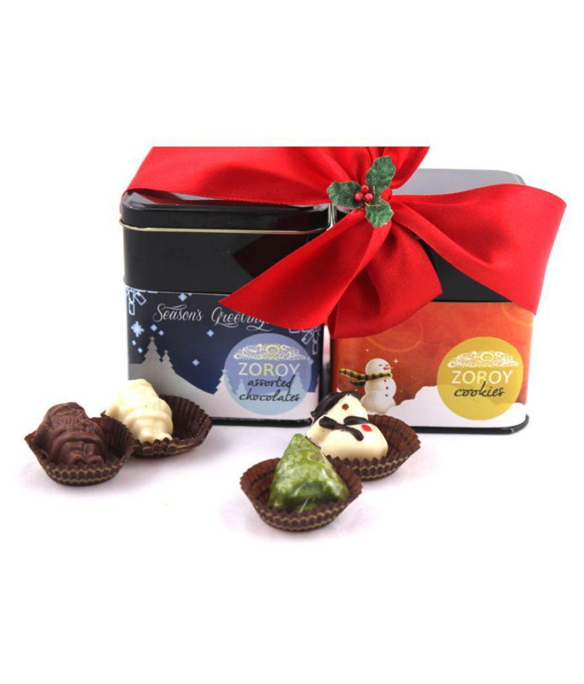 Zoroy Luxury Chocolate A set of 2 tins Assorted Box Christmas and new year gift 130 gm