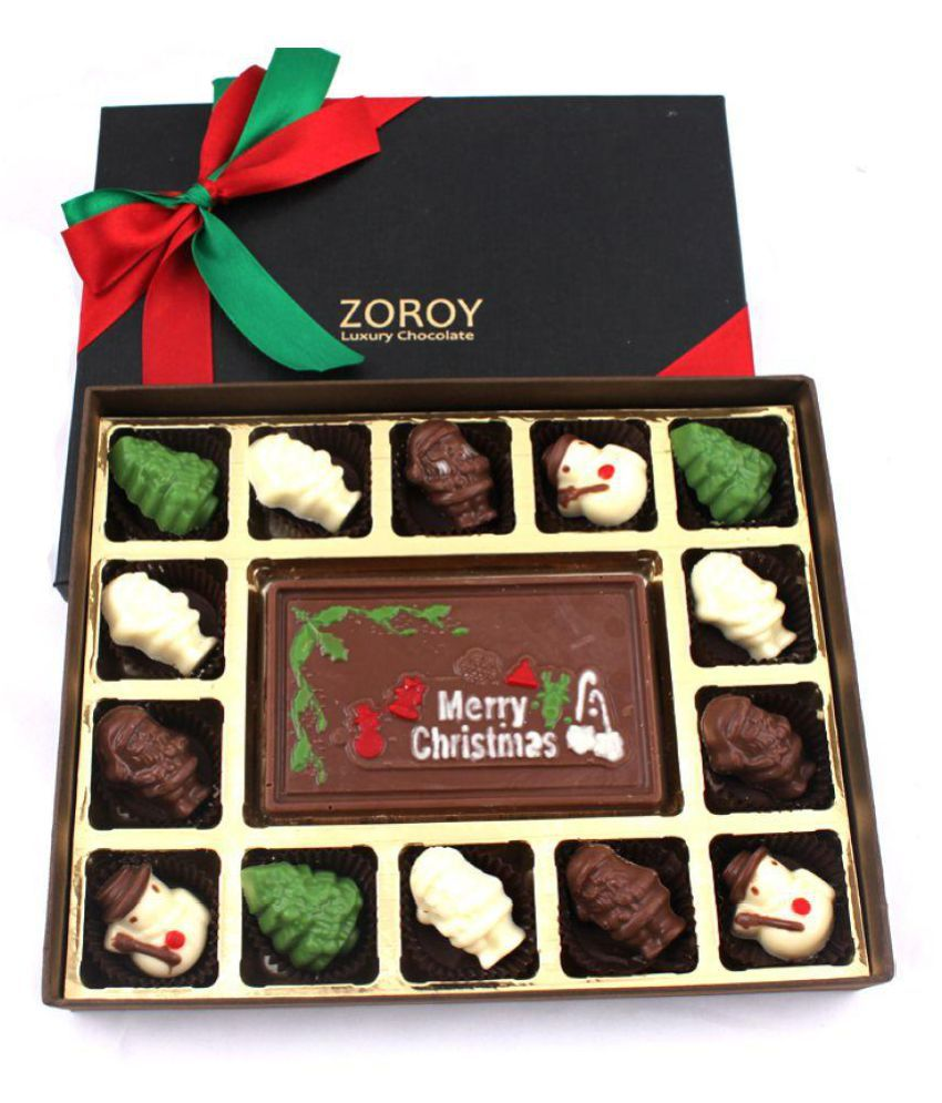 Zoroy Luxury Chocolate theme box of 20 Assorted Box Christmas and new year gift 200 gm