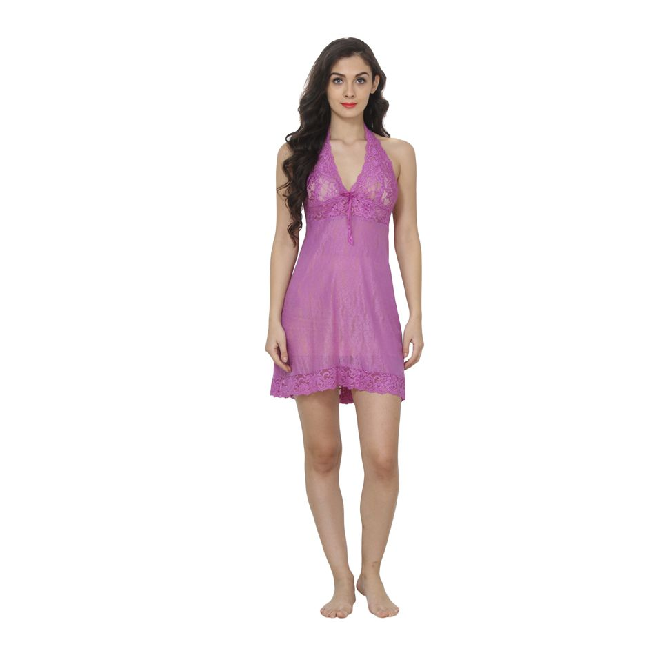 acaf1bfe4e9 Buy Affair Lycra Baby Doll Dresses Without Panty - Purple Online at ...
