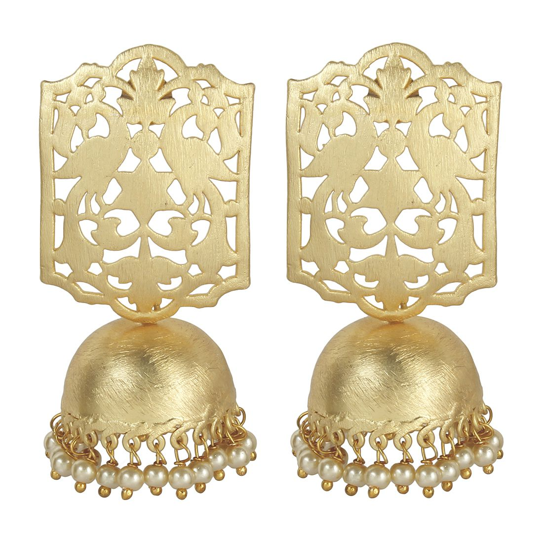 MUCH MORE Peecock Shape Gold Tone Boutique Colloction Fashion Earrings for Women's