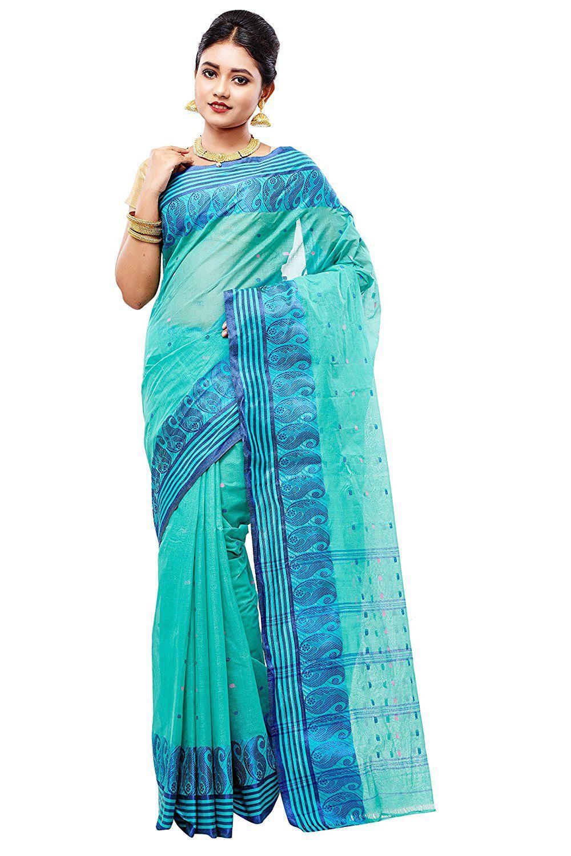 Slice of Bengal Blue Cotton Saree
