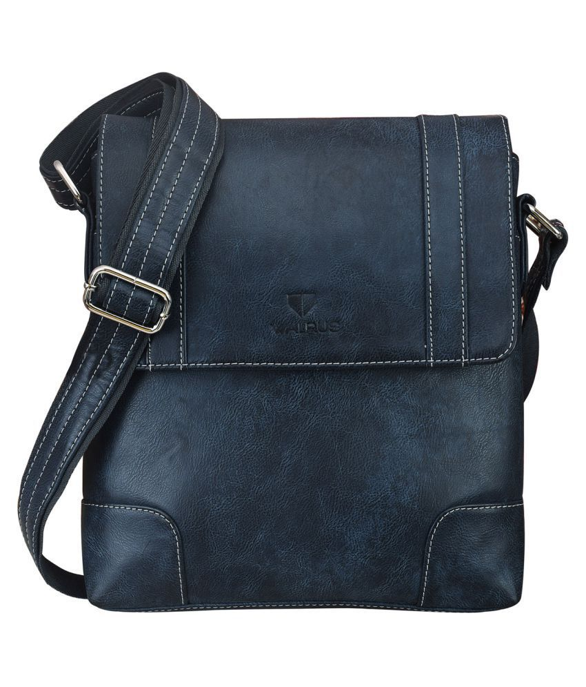Walrus WMB-ADW-030303 Blue Synthetic Casual Messenger Bag
