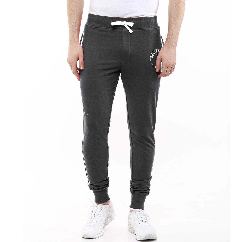 Wear Your Mind Grey Regular -Fit Flat Joggers